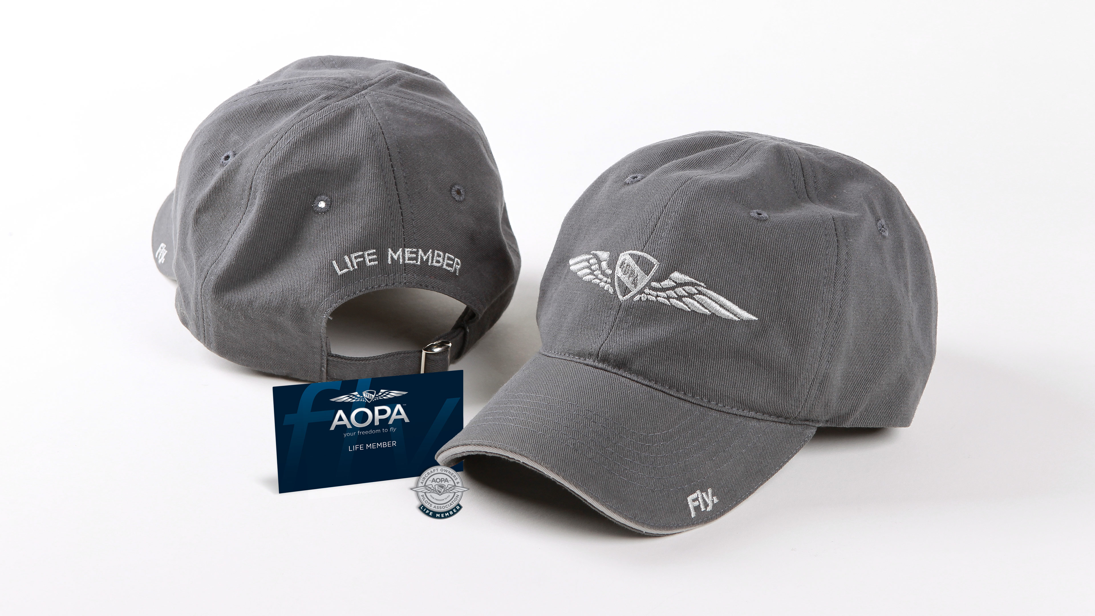 AOPA Life Membership Hat and Card