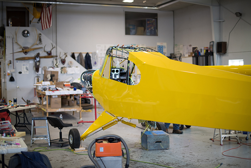 The Super Cub's sleek fuselage shines in Lock Haven Yellow. Photo courtesy of Aerotronics.