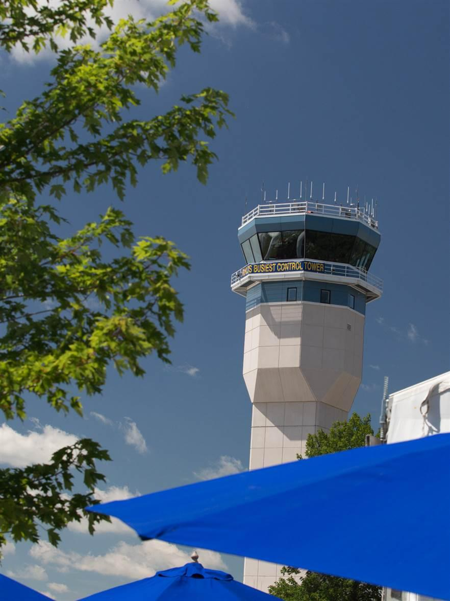The most famous, and the busiest,  air traffic control tower. Jim Moore photo.