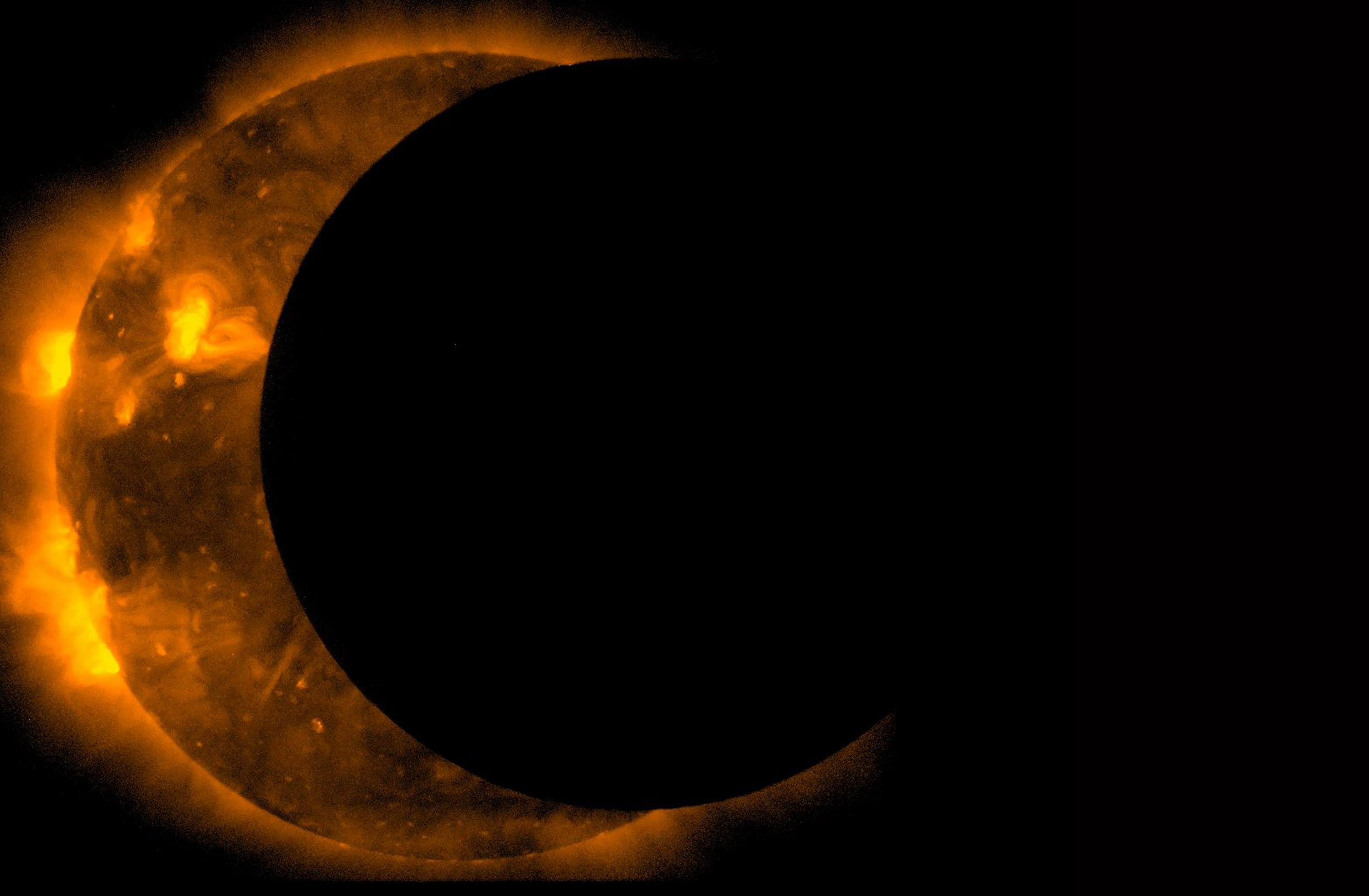 A partial solar eclipse is shown in this Sept. 13, 2015, image released by NASA. A total solar eclipse will occur over North America on Aug. 21. Photo courtesy of NASA.