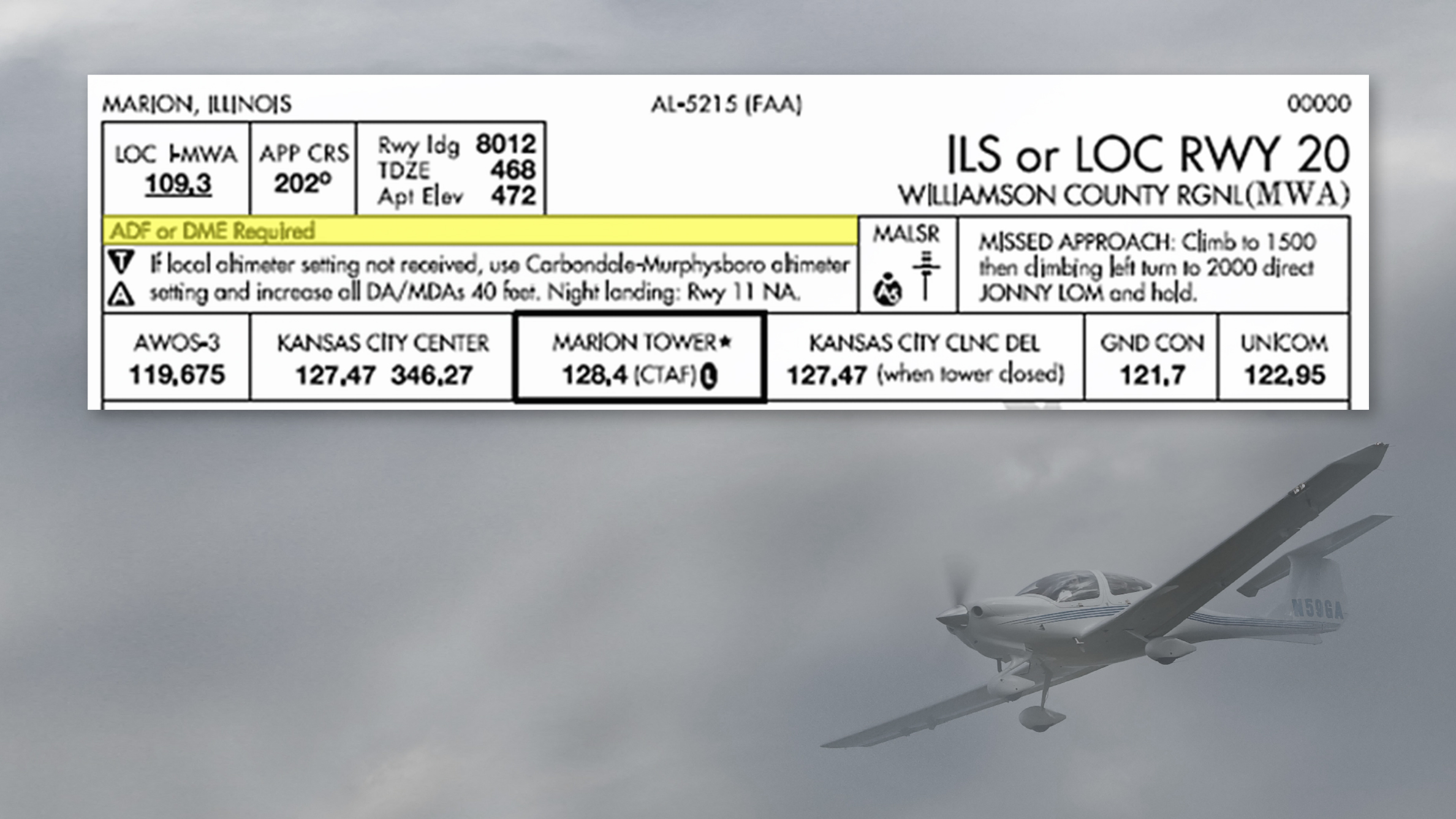 Example of new instrument approach plate.