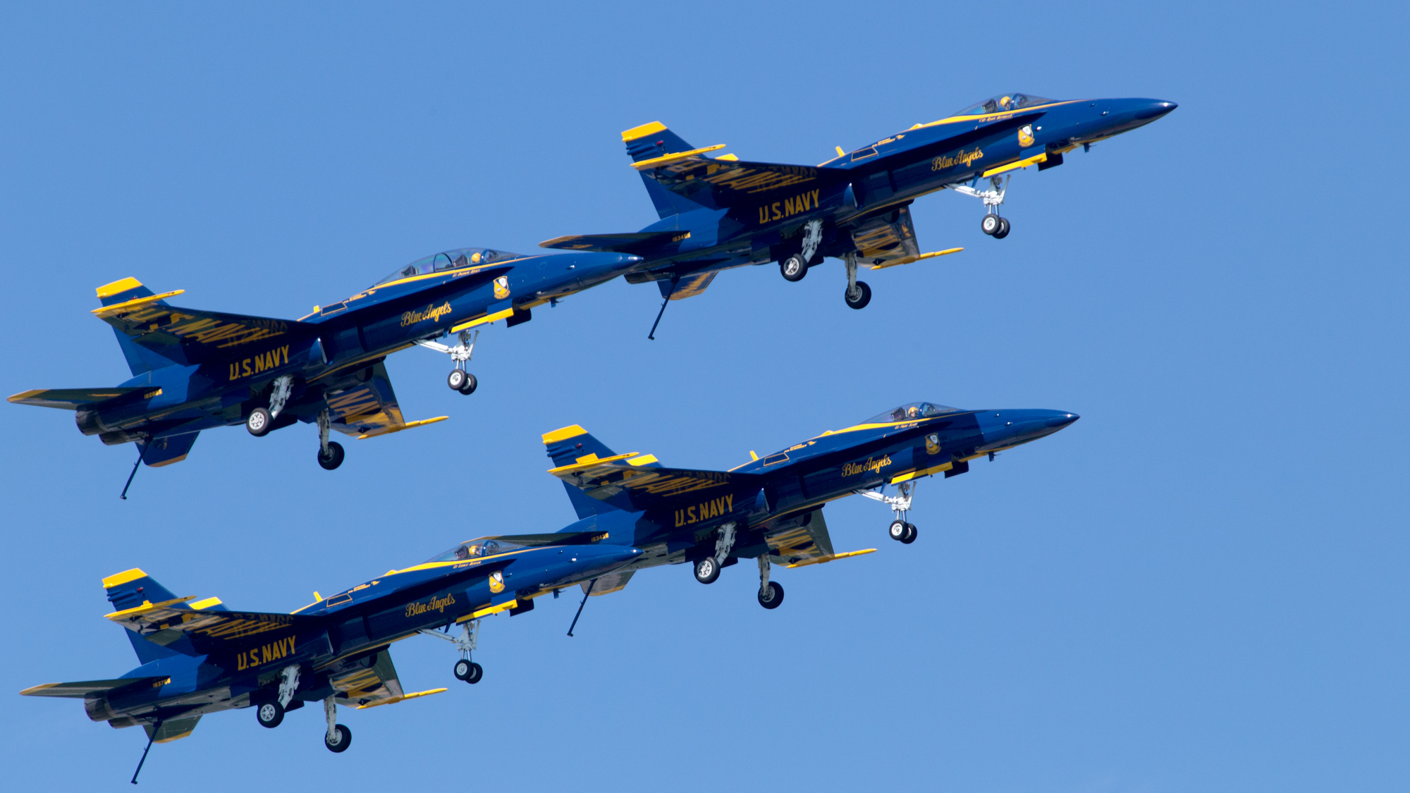 The U.S. Navy Blue Angels, seen here at EAA AirVenture in 2017, will perform at the Joint Base Andrews Air Show. Photo by Jim Moore.