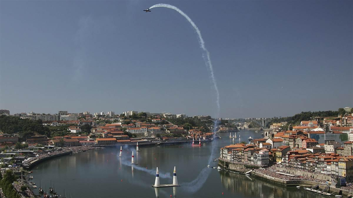 The Red Bull Air Race World Championship series will return to the second-largest city in Portugal in September for the first time since 2009. Kirby Chambliss (shown here) managed a podium finish in 2008, but no current Red Bull pilot has won in Porto, Portugal. Photo by Andreas Schaad/Red Bull Content Pool.