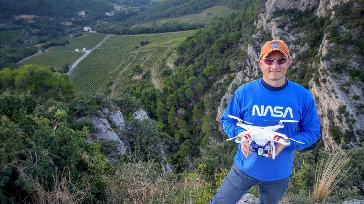 "Five weeks flying a drone in France helped convince Romeo Durscher that drones would ""contribute to a big change in thinking."" Photo courtesy of Romeo Durscher."