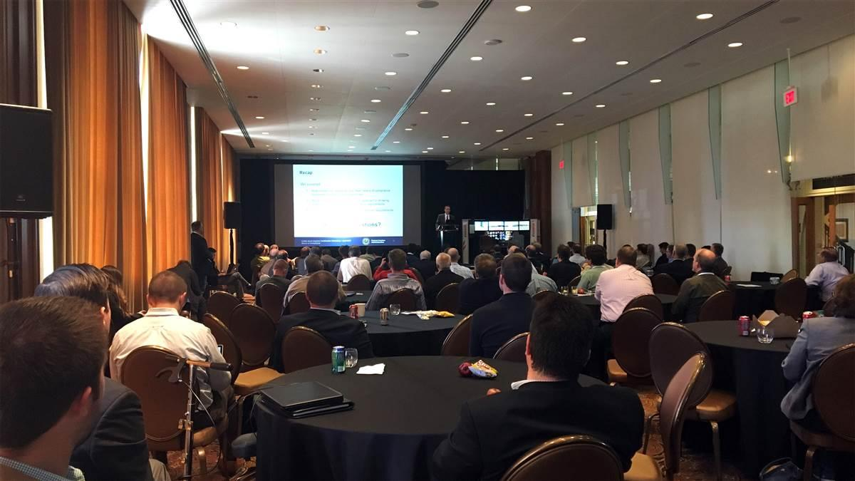 The General Aviation Manufacturers Association hosted a well-attended briefing April 27 in Dallas on the revamped Part 23 rule that takes effect in August. Photo by David Oord.