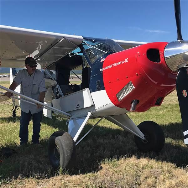 The 2018 Husky A-1C backcountry aircraft with its updated trim system and articulating seats made an appearance during the AOPA Fly-In at Missoula, Montana, June 15-16, 2018. Photo by Dave Hirschman.