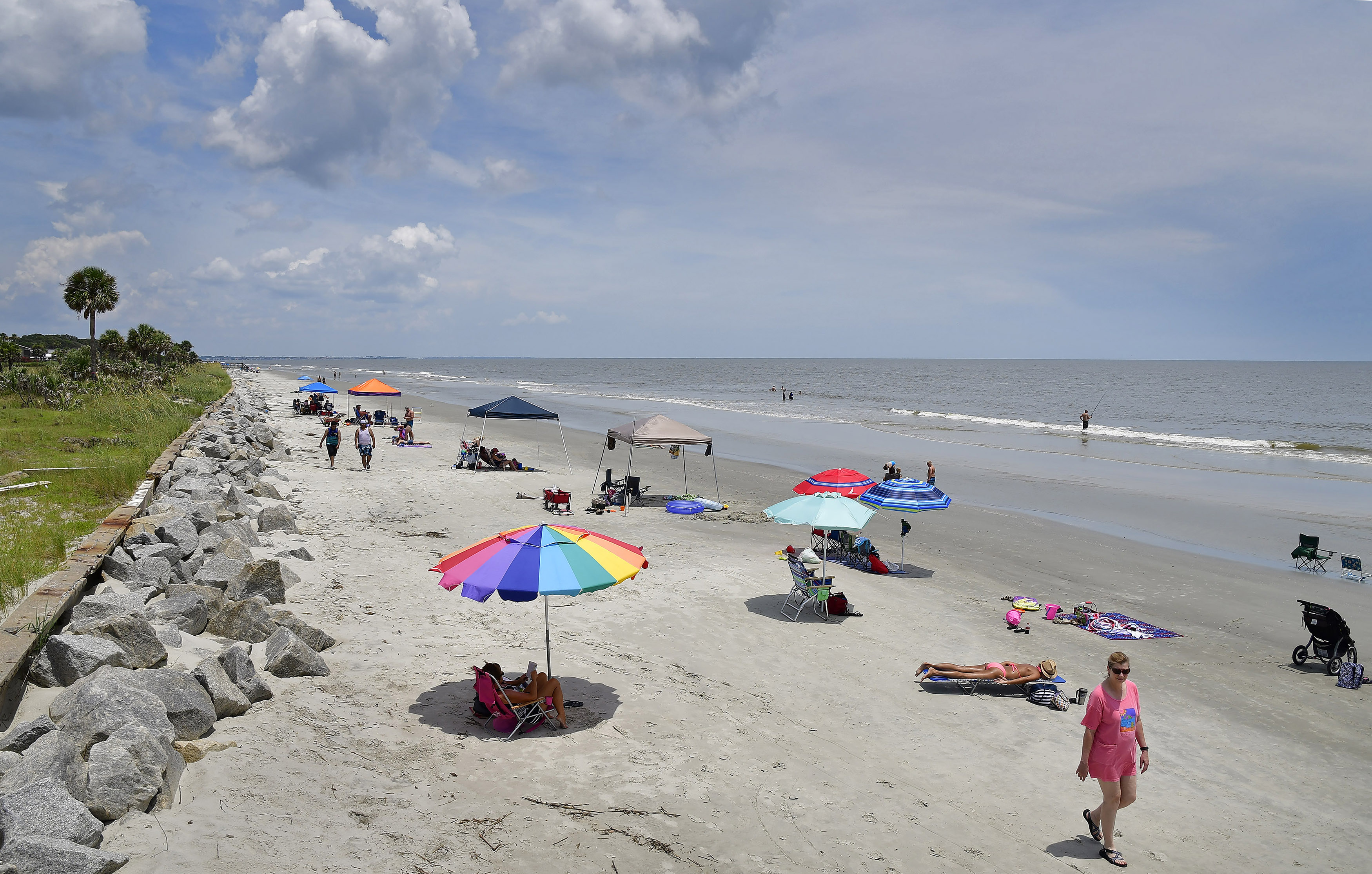 The beach at Jekyll Island, Georgia, is an attractive option for families because there are no high-rise hotels and very little commercialization. Photo by David Tulis