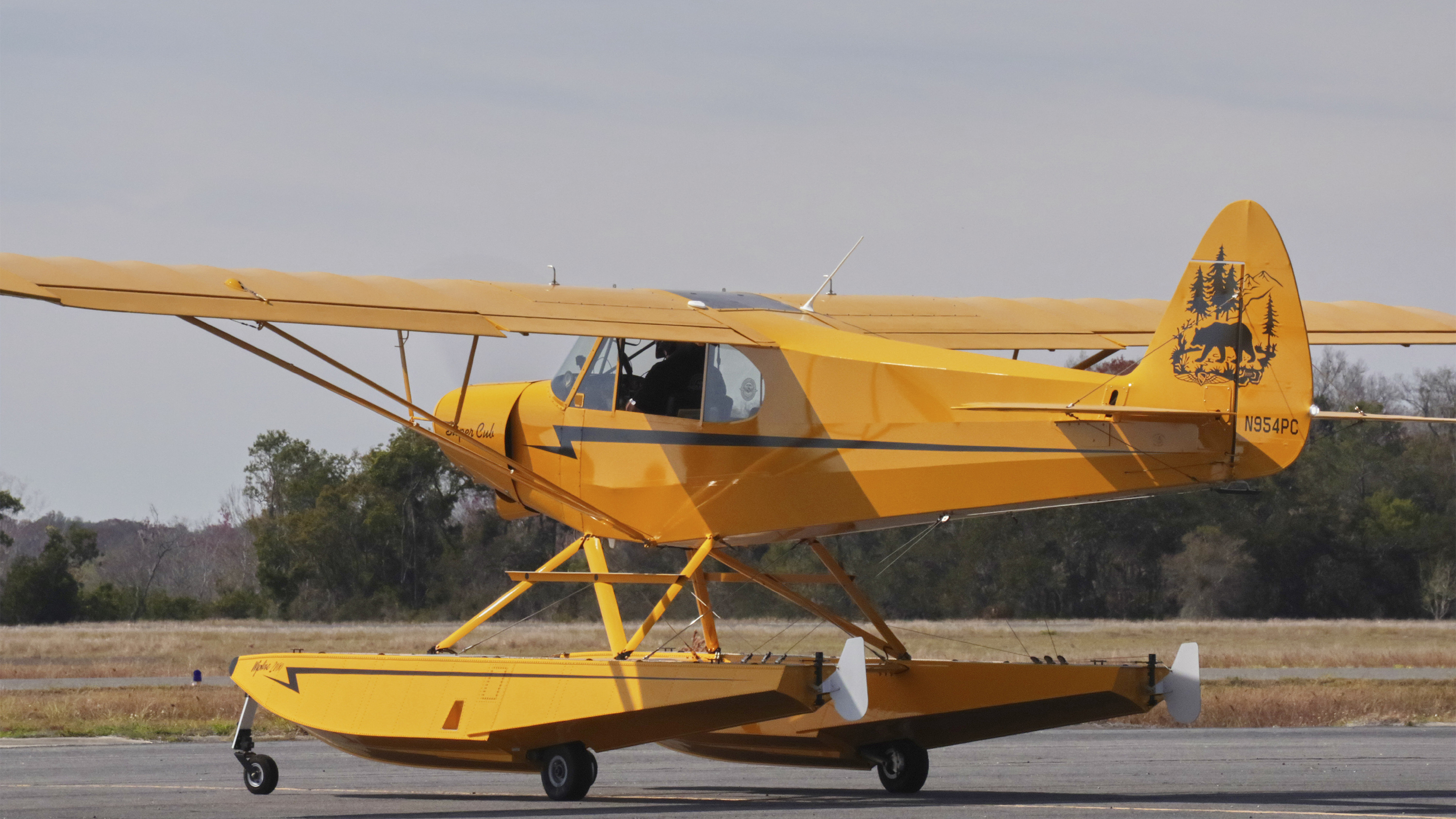 AOPA's Sweepstakes Super Cub is off for its maiden flight from Leesburg International Airport in Florida after passing its test flight and all the maintenance paperwork is complete.