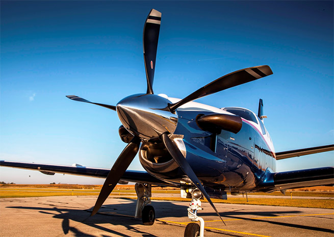 Hartzell's new five-blade prop adds performance to already high-performing TBM turboprops. Hartzell Propeller photo