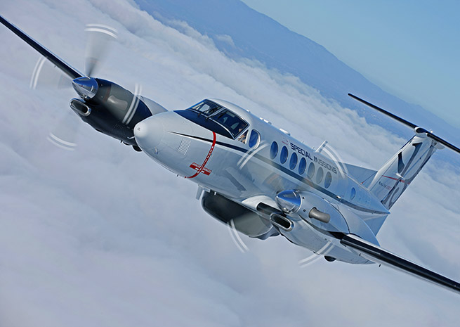 King Air 350ER. Beechcraft Corp. photo.