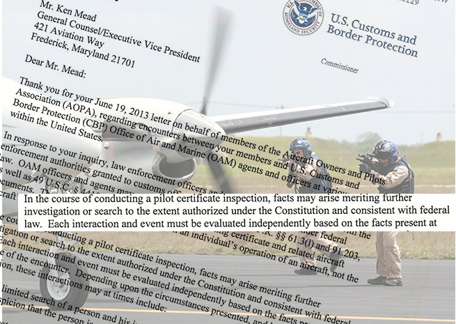 Customs and Border Protection uses a questionable justification for aircraft searches