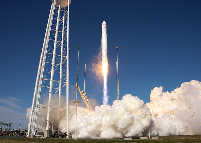 NASA commercial space partner Orbital Sciences Corporation launched its Antares rocket April 21 from the new Mid-Atlantic Regional Spaceport the NASA Wallops Flight Facility in Virginia. (NASA/Chris Perry)