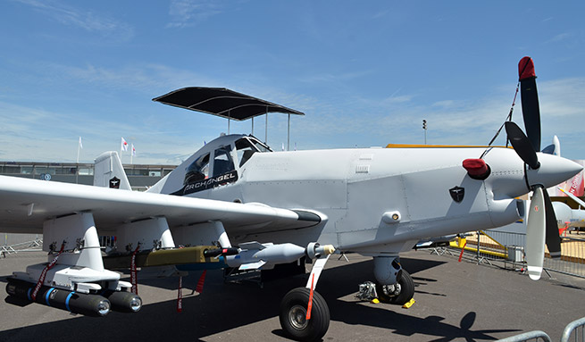 An Archangel on display at the 2013 Paris Air Show. Photo courtesy of IOMAX