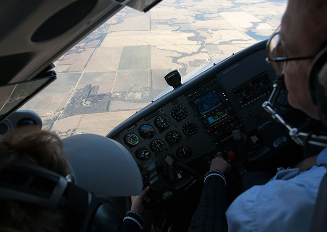Stall-related accidents almost never happen when practicing stalls. AOPA file photo.