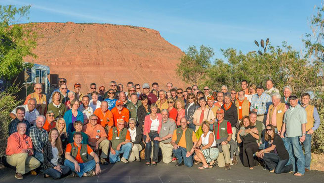 Pilots gather at the Recreational Aviation Foundation Red Rock RoundUp in St. George, Utah. Photo by George Kounis.