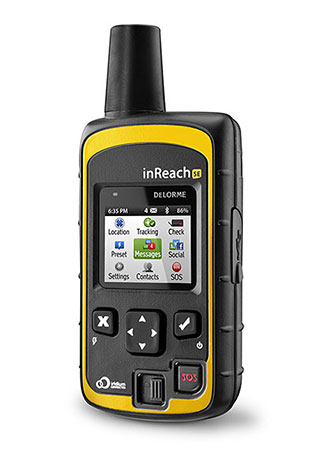 DeLorme's inReach satellite communicator. Photo courtesy of DeLorme.