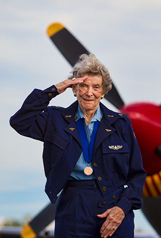 Bernice Haydu, seen here in an AOPA file photo, was among the recipients of the FAA Master Pilot Award at Sun 'n Fun.