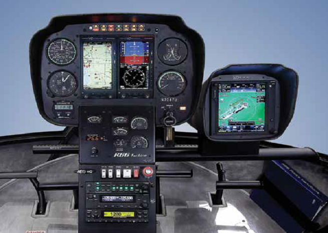 Robinson R66 with glass displays