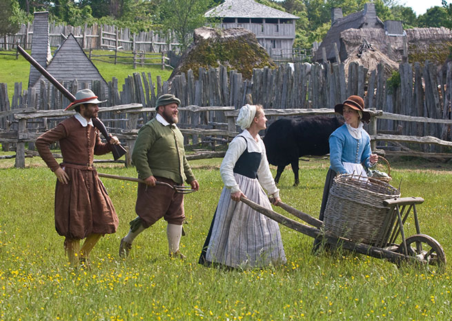 Plimoth Plantation is Plymouth's top tourist attraction, drawing about 350,000 visitors a year and offering a firsthand look at (and taste of) life in 1627. Photo courtesy of Destination Plymouth County.