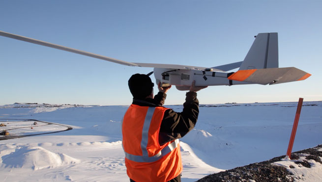 The Puma AE will survey Alaskan roads and infrastructure for energy corporation BP. Courtesy AeroVironment, Inc.