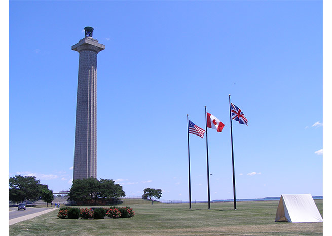 Perry's Victory and International Peace Memorial stands 352 ft. tall over Lake Erie. Courtesy of SHORESandISLANDS.com.