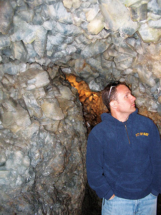 Inside the Crystal Cave of Heineman's Winery. Photo by Heather Sanders Connellee.