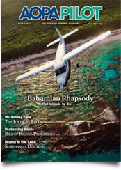 Pilot Magazine Cover March 2012