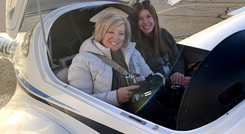Madison 'Maddy' Seymour's first passenger was her mom. Photo courtesy of Madison Seymour.