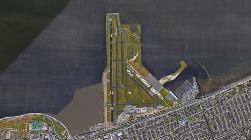 Lakefront Airport. Image courtesy of Google Earth.